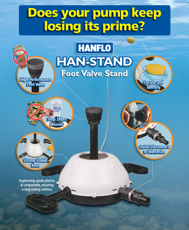 Hanflo Han-Stand Foot Valve Stand